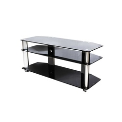 TV Stand CG- 103S 1200X400X600MM Silver with Tempered Glass