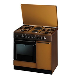 Indesit K9B11SB(B) 4 Gas + 2 Electric Cooker - Brown + Bic Mega Lighter for FREE