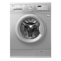 LG FH4G7TDY5 Front Load Washing Machine, 8KG, DD, Steam - Silver