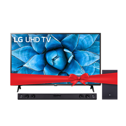 LG TV 50UN7340 50'' + SJ3 Sound bar Bundle