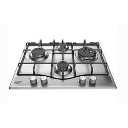 Ariston PCN 641 N/T/IX/A Built In Hob,  4G, 60CM 1XWOK - Stainless Steel