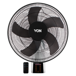 Von HFW661B/VSNC6611K Wall Fan with Remote - Black