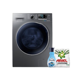 Samsung WD70J5410AX Front Load Washer Dryer, 7/5KG - Get Free Ariel Detergent and Downy Softener