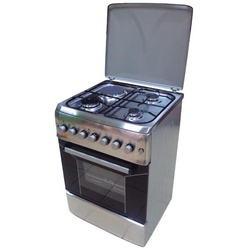 Von Hotpoint TF.6131/F6T31G2/F6S31E2 3 Gas + 1 Electric Cooker - Stainless Steel