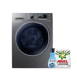 Samsung WD90J6410AX Front Load Washer Dryer, 9/6KG - Get Free Ariel Detergent and Downy Softener