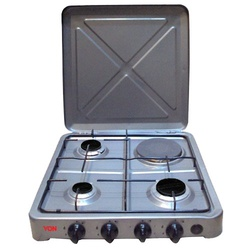 Von 0-431.S/ VAC4F300S 3 Gas 1 Electric Cooker - Silver