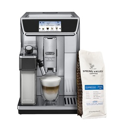 Delonghi ECAM650.85.MS Bean-To-Cup Coffee Machine - Get FREE Spring Valley 500G Espresso