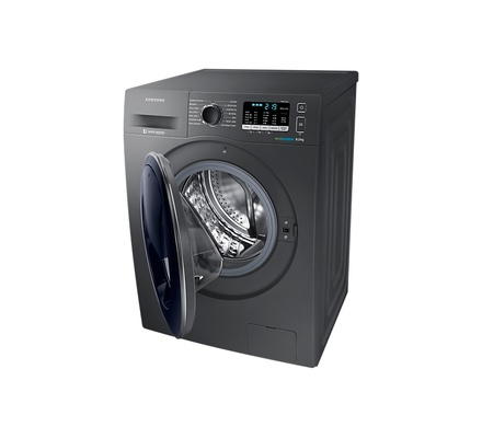 Samsung WW80K5410UX/EU Washing Machine Front Load, 8KG, Add Wash - Silver