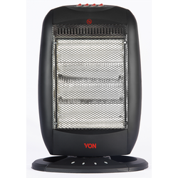 Von VSHJ16QK Quartz Heater, with Oscillation, 1600W - Black