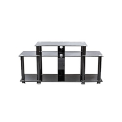 TV Stand CG- 504B 1300X400X650MM Black with Tempered Glass