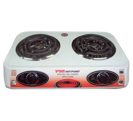 Von Hotpoint Cooker HPTC-21CW in Kenya Table Top Double Coil Cooker