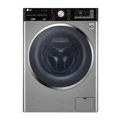 LG F4J9JSP2T Front Load Washing Machine, Direct Drive, 10.5KG - Silver