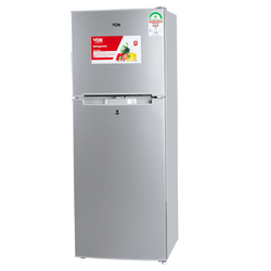 VON VART-18DMY Double Door Fridge 138L - Silver