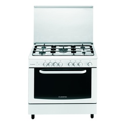 Ariston C081SG1/CN5SG1 (W)  5 Gas + Wide Gas Oven Cooker - White