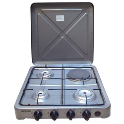 Hotpoint O-431.S 3 Gas 1 Electric Cooker - Silver