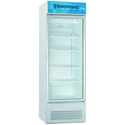 Westpoint WPX-287.TG Vertical Cooler, 280L - White+Grey