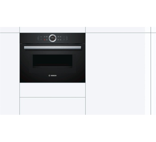 Bosch CMG633BB1B Built In Microwave Oven, 45L, 14 Function - Black