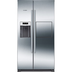 Bosch KAG90AI20N Side by Side Fridge, 575L, Non Frost, Water Dispenser - Silver
