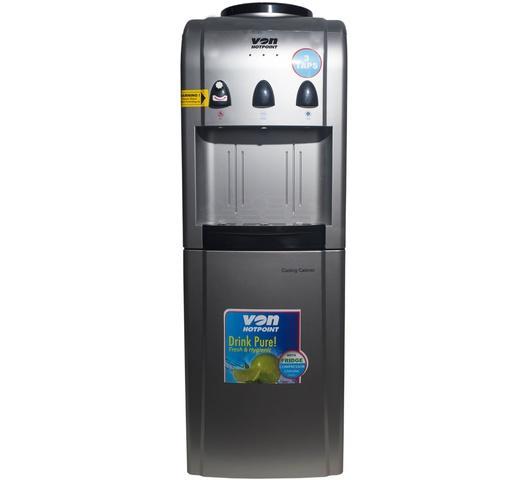 Von Water Dispenser HWDV2220S in Kenya Water Dispenser, Compressor Cooling, With Fridge, Free Standing - Silver