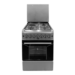 Von VAC6F031US 3 Gas + 1 Electric Cooker - Silver