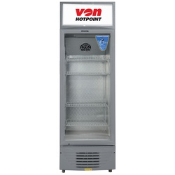 Von HPBC158W/VARV15DAS Vertical Cooler, 150L - White+Grey