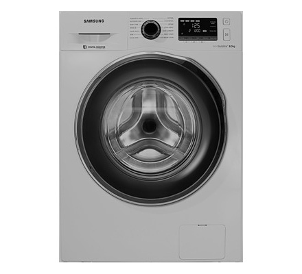 Samsung Ww80j5260gs Nq Front Load Washing Machine Silver