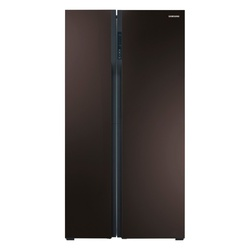Samsung RS552NRUA9M Side by Side Fridge, 538L - Wine Red
