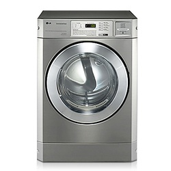 LG RV1329CD7P Front Load Commercial Dryer, 10KG, Silver - Stackable'.