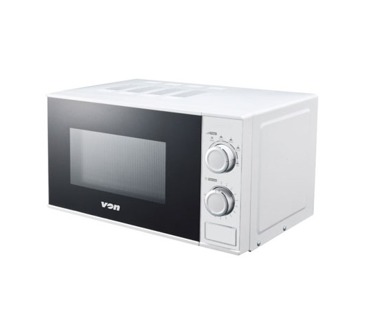 VON VAMS-20MGW Microwave Oven, Solo, 20L Mechanical - White