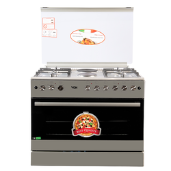 Von F9E50E2/ F9E42G2.IL.S/ VAC9F042WX 4 Gas + 2 Electric Cooker - Stainless steel
