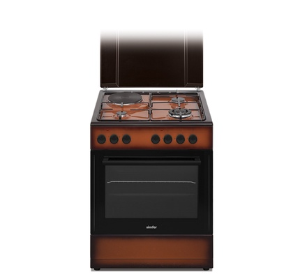 Simfer 6312NED 3 Gas + 1 Electric Cooker - TDF Dark