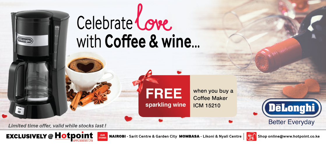 Get FREE Sparkling wine when you buy Delonghi ICM15210 Coffee Maker