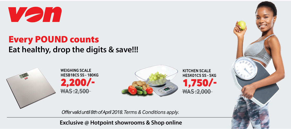 Eat healthy, drop the digits and save with Von weighing scales.