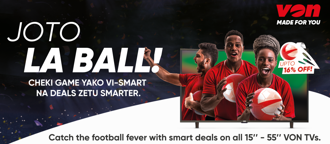"Catch the football fever with smart deals on all 15"" - 55"" Von Tvs"