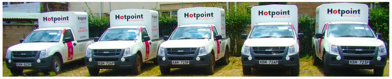 Hotpoint Free delivery trucks