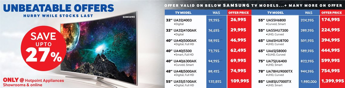 Samsung TV Offer. Up to 27% Off.