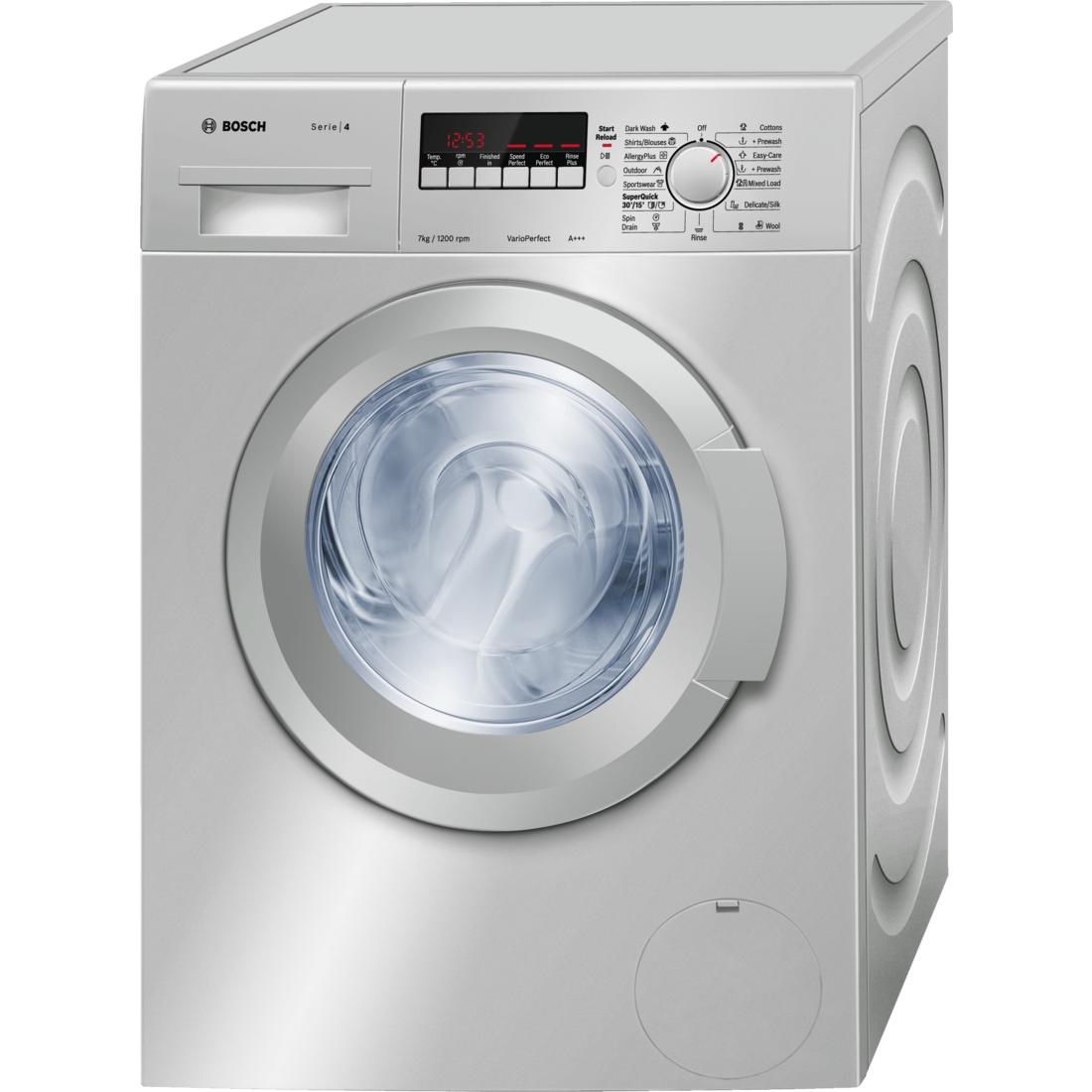 Bosch Wak2427sza Washing Machine Front Load 7kg Silver
