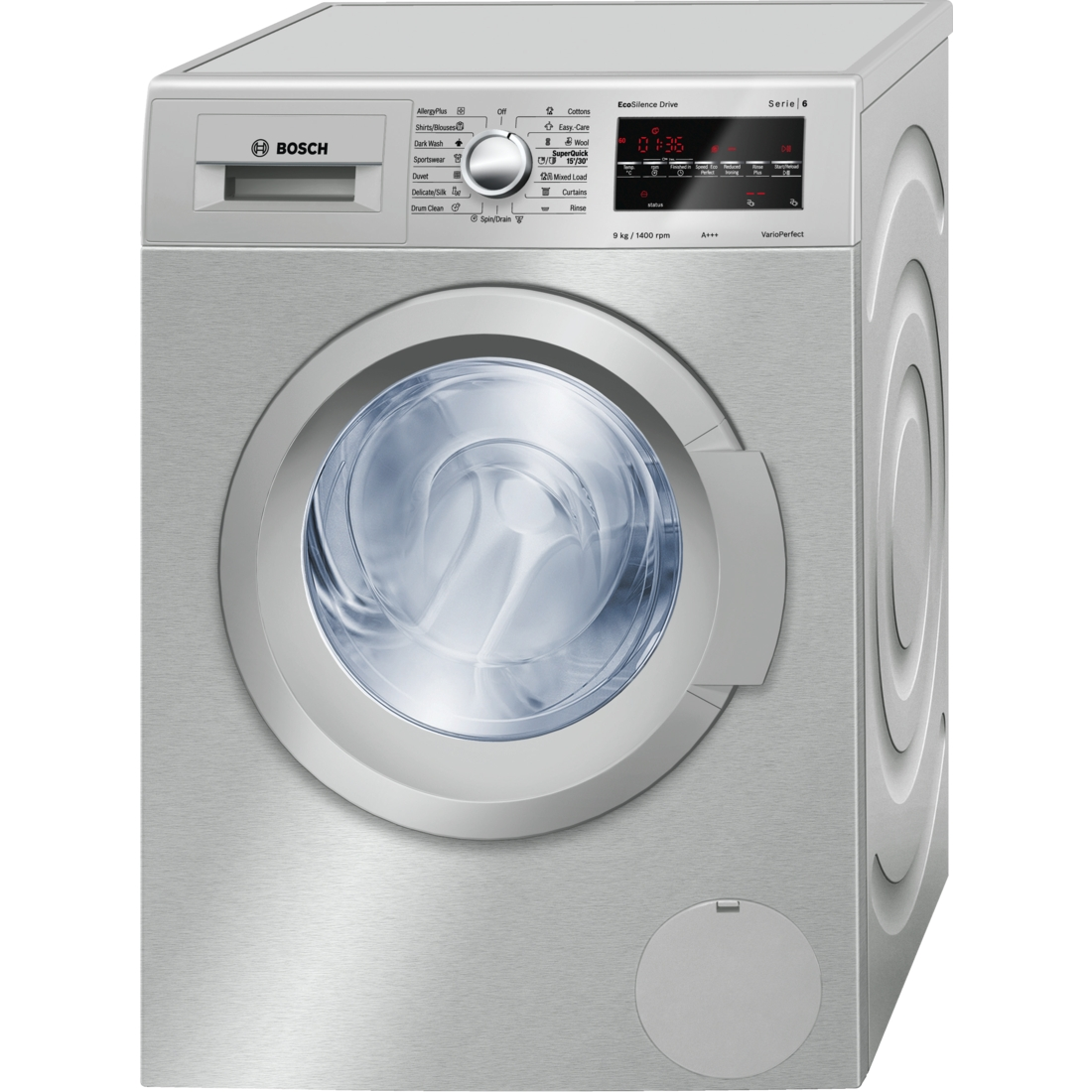 Bosch Wat2848xza Washing Machine Front Load 9kg Silver