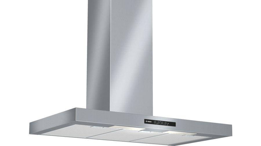 Bosch Dwb09w452b Chimney Hood Brushed Steel Hotpoint Co Ke
