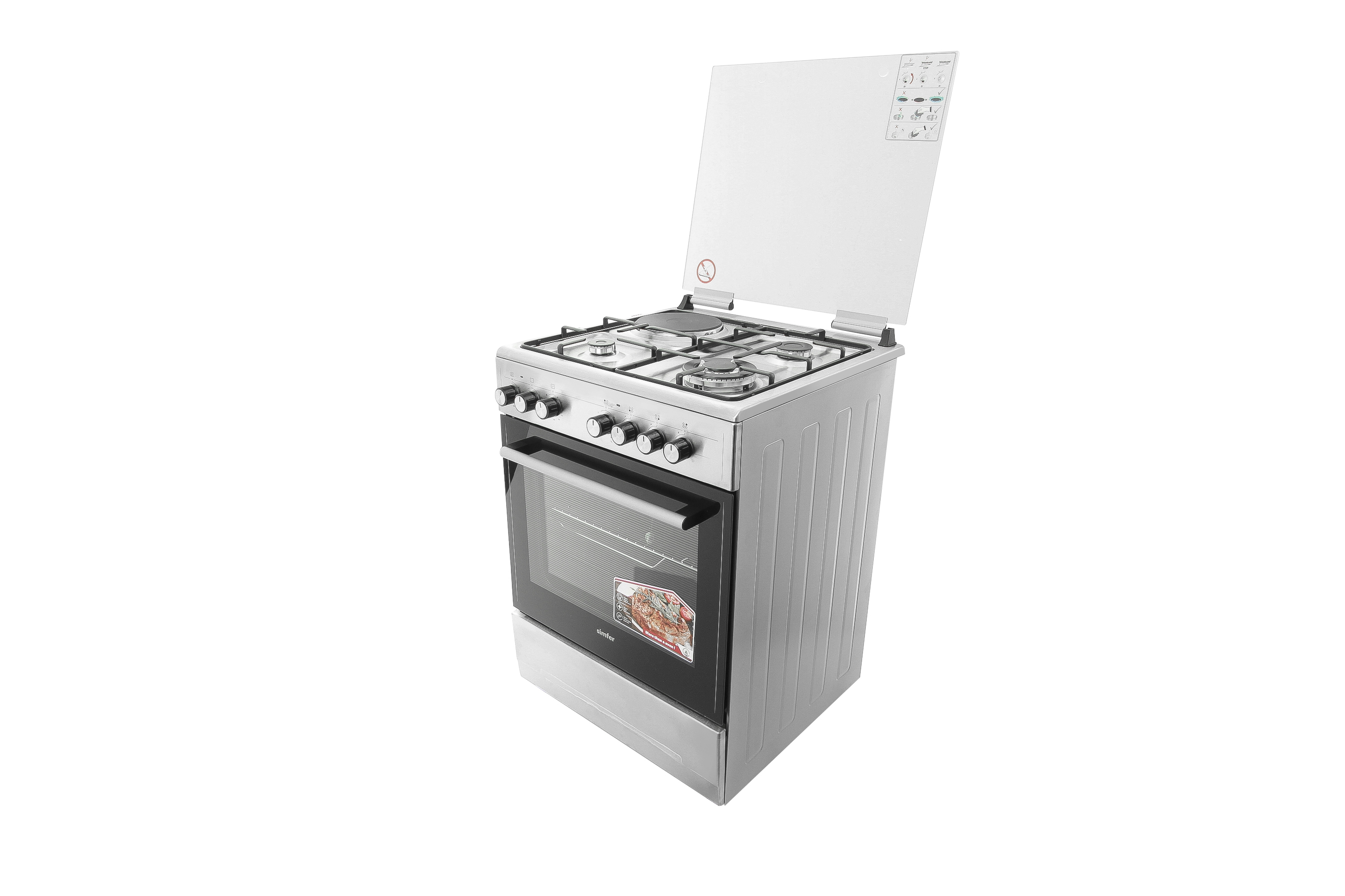 Simfer 6312nei Cooker 3 Gas 1 Electric Stainless Steel