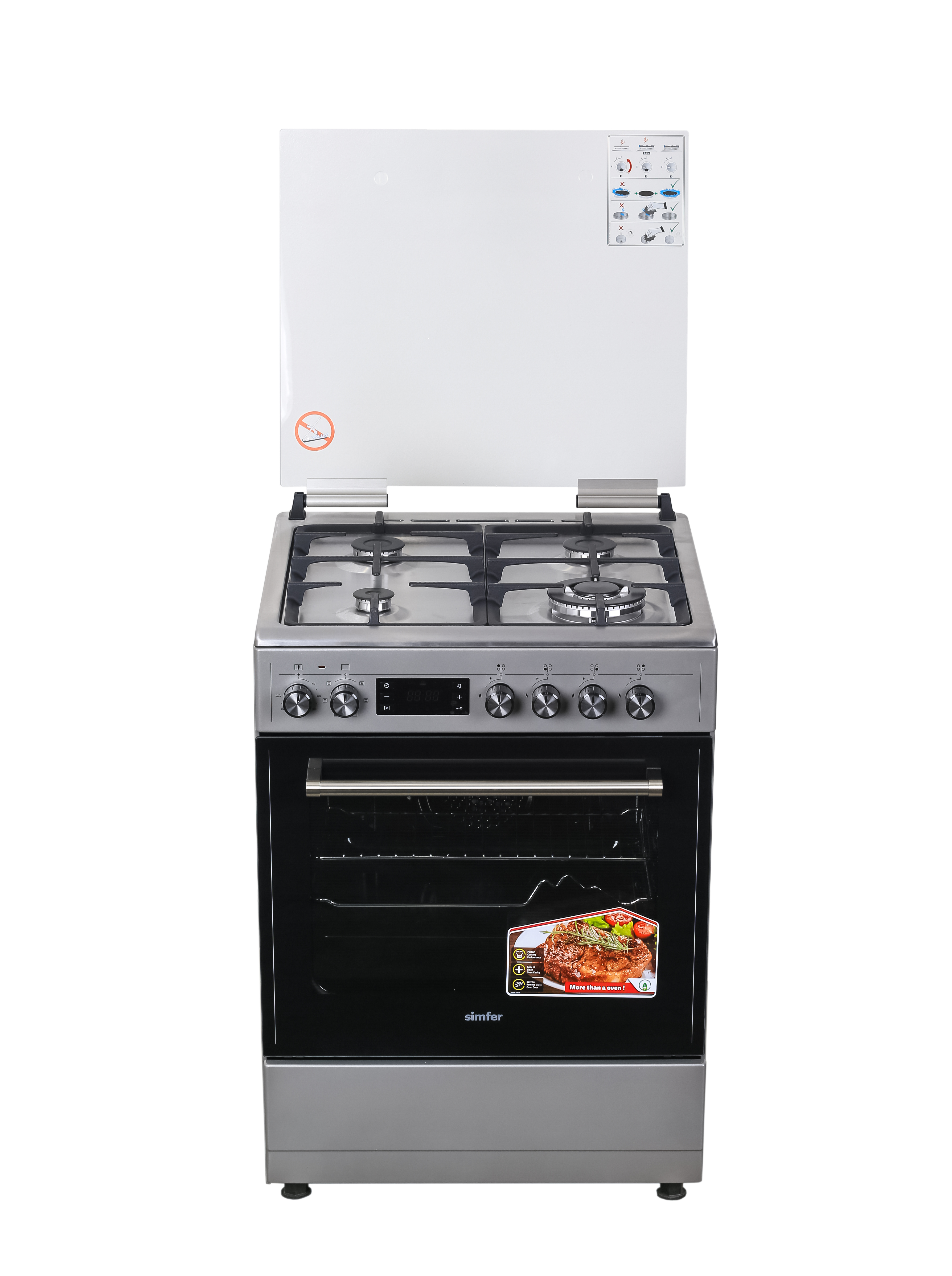 Simfer 6402nei 4 Gas Electric Oven Cooker Hotpoint Co Ke
