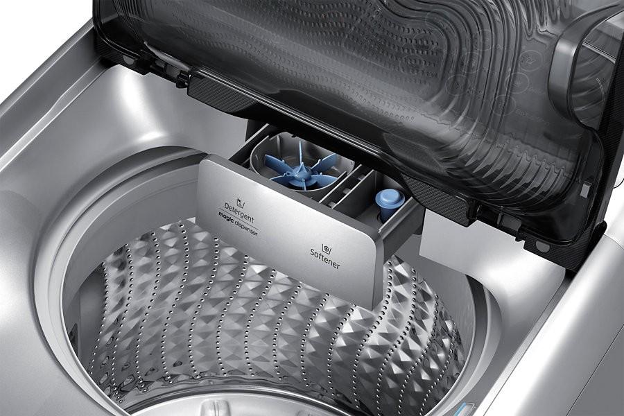 samsung washing machine top load 13 kg silver