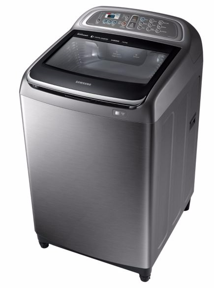 samsung wa16j6750sp nq washing machine top load 16kg silver. Black Bedroom Furniture Sets. Home Design Ideas